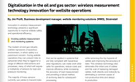 Wellsite monitoring solutions featured in oil and gas vision