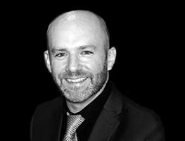 Black and white profile photograph of Ian Roberts, Strainstall's Technical Manager