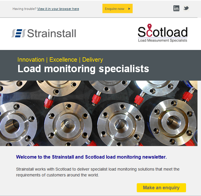 Strainstall load monitoring newsletter